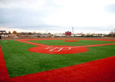 Red Artificial Baseball Turf