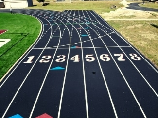 When is it time to install a new athletic running track?